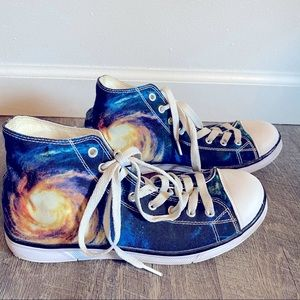 ForU Designs Galaxy Space High Top Shoes 38 (7.5)